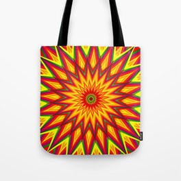 Fractal Sunflower Colorful Abstract Floral Art II Tote Bag
