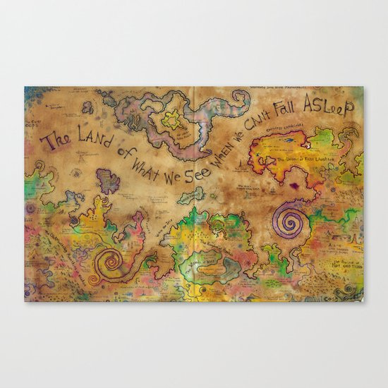 The Land of What We See When We Can't Fall Asleep Canvas Print