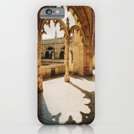 sunlight hitting the Jerónimos monastery in Lisbon, Portugal | Photo Print, Travel Photography iPhone Case