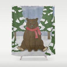 This winter I won't hibernate Shower Curtain