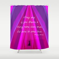 sleeping beauty Shower Curtains featuring Sleeping Beauty by Burlap and Bourbon