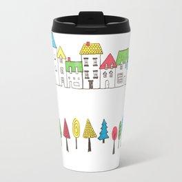 Row of Houses, Row of Trees Travel Mug