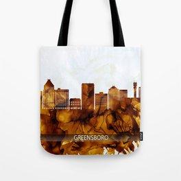 Greensboro North Carolina Skyline Tote Bag