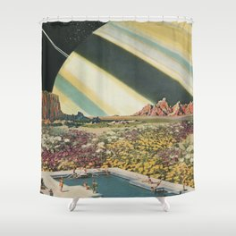 Spacecation Shower Curtain