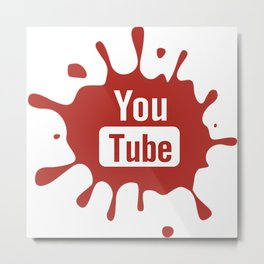 youtube youtuber - best designf or YouTube lover Metal Print