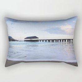 Hanalei Bay Pier at Sunrise Rectangular Pillow