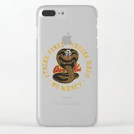 Cobra Kai - Strike First - Strike Hard - No Mercy Clear iPhone Case