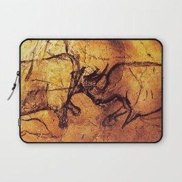 Fighting Rhinos // Chauvet Cave Laptop Sleeve