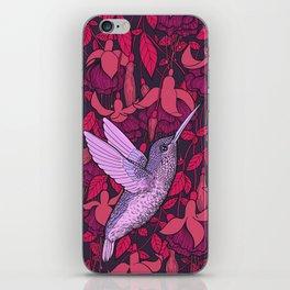 Hummingbird and fuchsia iPhone Skin