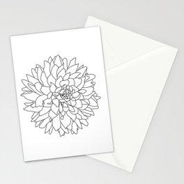 Dahlia 3 Stationery Cards