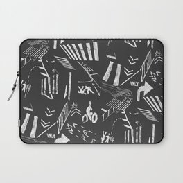 Traffic - crosswalks and bike lanes in NYC Laptop Sleeve