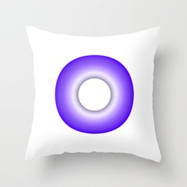 Simple Purple Circle in Rings Throw Pillow