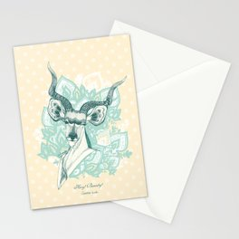 Hey! Beauty! - Greater Kudu - bule Stationery Cards