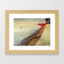 Breakwater on Lake Ponchartrain Framed Art Print