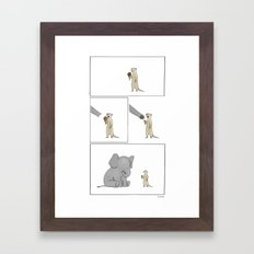 Friends Share  Framed Art Print