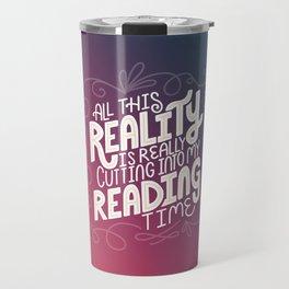 Reality Vs. Reading Rainbow Travel Mug