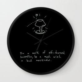 A Moth With A Bad Attitude Wall Clock