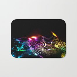 Music Notes in Color Bath Mat