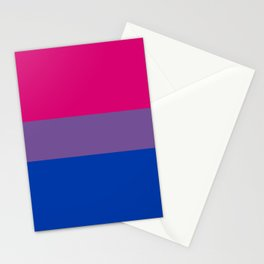 Bisexual Pride Flag Stationery Cards