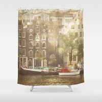 amsterdam Shower Curtains featuring Amsterdam by Cassia Beck