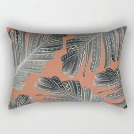 Boho Banana Leaves Glam #3 #tropical #decor #art #society6 Rectangular Pillow