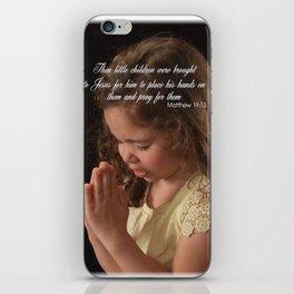 Matthew 19:13 iPhone Skin