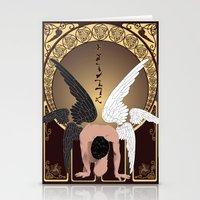 castiel Stationery Cards featuring Castiel by Lauren Spooner