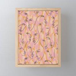 Twin Flames Mustard Framed Mini Art Print