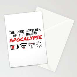 The Four Horsemen Of The Modern Apocalypse Stationery Cards