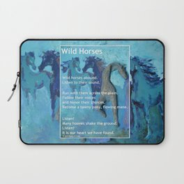 Wild Horses: Poem and Painting Laptop Sleeve