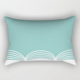 Abstract pattern - blue and white. Rectangular Pillow