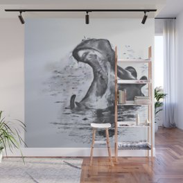 Animals and Art - Hippo Wall Mural