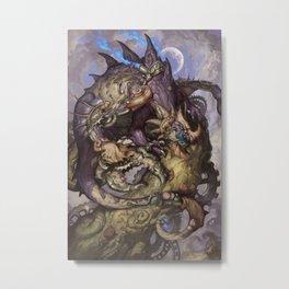 Zodiac Dragons Calendar Cancer Metal Print