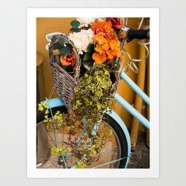 Basket Full of Flowers Art Print