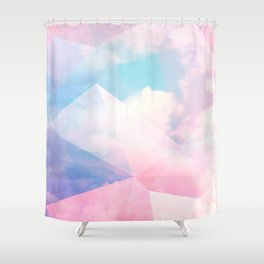 Cotton Candy Geometric Sky #homedecor #magical #lifestyle Shower Curtain