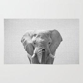 Elephant - Black & White Rug