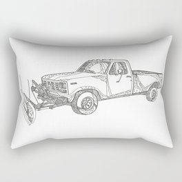 Snow Plow Truck Doodle Art Rectangular Pillow