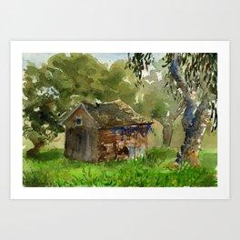 Ardenwood Shack Watercolor Art Print