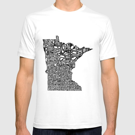 Typographic Minnesota T-shirt