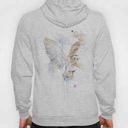 """Watercolor Painting of Picture """"White Owl"""" Hoody"""