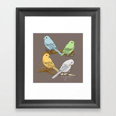 Birds of Season Framed Art Print