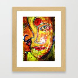 contemporary-face-eye-and-lips-abstract-art-paintings-for-your-wall-decors-the-art-of-painting-art-p Framed Art Print
