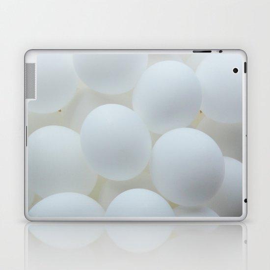 white balloons Laptop & iPad Skin
