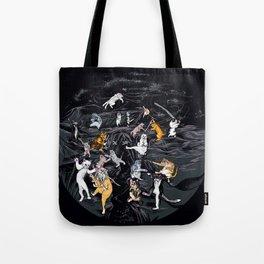 Meowlin Temple Tote Bag