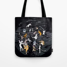 Meowlin Temple Tote Bag
