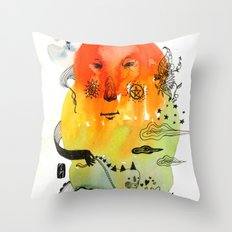 OrangeCloud Throw Pillow