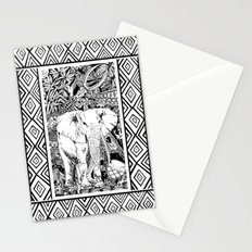 White Elephant Indian Ink Tribal Art Stationery Cards