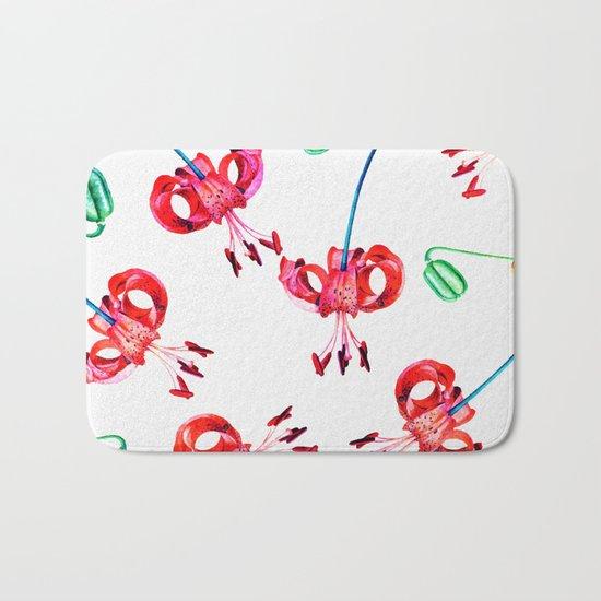 Hibiscus Pattern V2 #society6 Decor #buyart Bath Mat