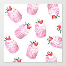 Strawberry Cupcakes Canvas Print
