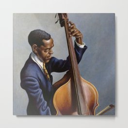 Classical Masterpiece 'Portrait of a Musician' by Thomas Hart Benton Metal Print